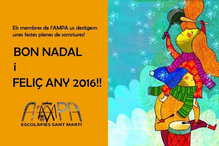 AMPA Escolàpies Sant Martí felicitació Nadal 2015