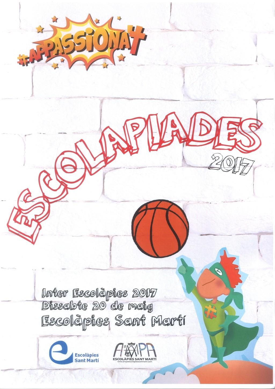 Escolapiades 2017 Escolapies Sant Marti barcelona